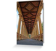 beautiful columns, HDR Photo Greeting Card