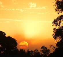 Fireball Sunset by Buddy Ahearn