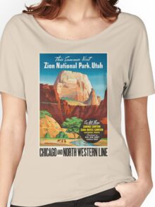 Vintage poster - Zion National Park Women's Relaxed Fit T-Shirt