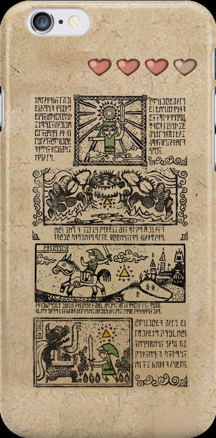 Windwaker Heroes Legend Tapestries (iPHONE 4 CAPSULE CASE ver) by Badymaru