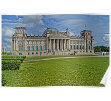 Reichstag of Berlin, HDR Photo Poster