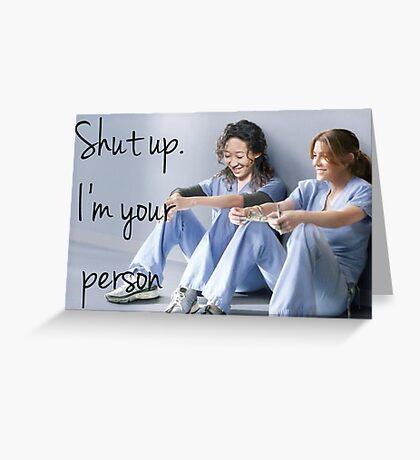 Grey's anatomy-Meredith & Christina Greeting Card