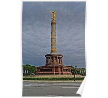 Victory Column of Berlin, HDR photo Poster