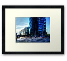 modern architecture of berlin Framed Print
