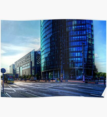 modern architecture of berlin Poster