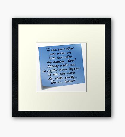 Grey's Anatomy -  Post-it! Framed Print