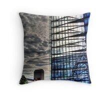 steel and glass, HDR photo Throw Pillow