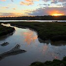 Sunset over the Colne by Phill Sacre