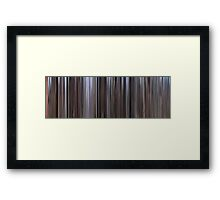 Moviebarcode: The Good, the Bad and the Ugly / Il buono, il brutto, il cattivo. (1966) Framed Print