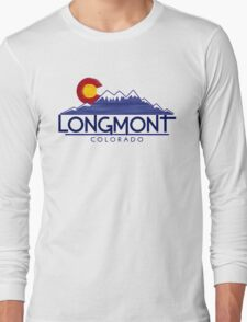 Longmont Colorado wood mountains Long Sleeve T-Shirt