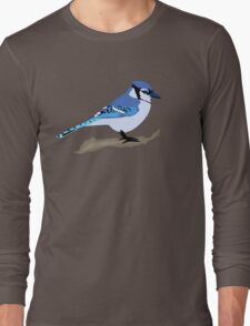 Blue Jay Bird Long Sleeve T-Shirt