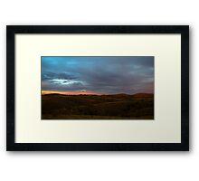 Back lit Ranges Framed Print