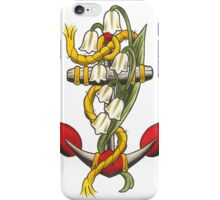 Anchor with lily iPhone Case/Skin