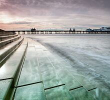 Blackpool North Pier Curve by Chris Frost Photography