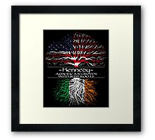 Kennedy - America Grown with Irish Roots Framed Print
