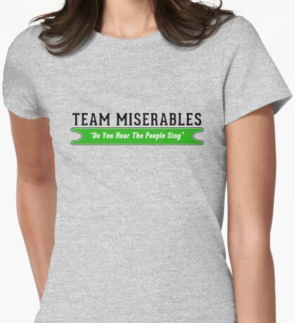 Team Miserables Womens Fitted T-Shirt