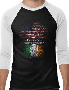 Kennedy - America Grown with Irish Roots Men's Baseball ¾ T-Shirt