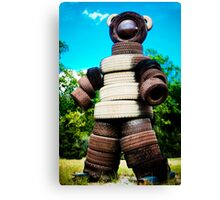Tire Bear Canvas Print
