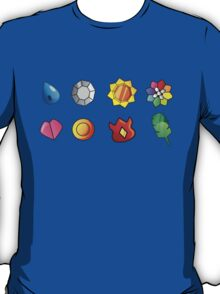 Kanto Gym Badges T-Shirt