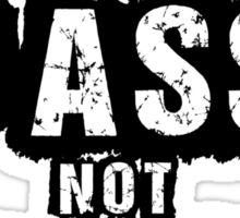 Drop Bass, Not Bombs Sticker