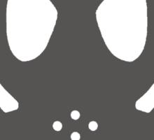 Dubstep Grey Gas Mask Sticker