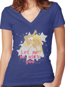 Let Me Be With You.  Women's Fitted V-Neck T-Shirt