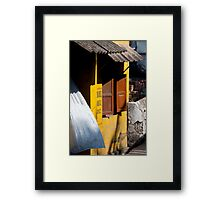 Tin Roof And Red Shutters Framed Print