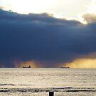 Storm over the ocean, Geraldton W.A.  by Virginia  McGowan
