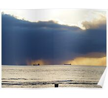 Storm over the ocean, Geraldton W.A.  Poster