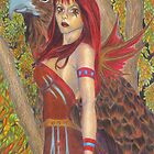 Spirit - Fairy with eagle by sarahpittman