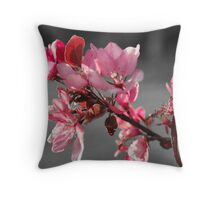 A Splash Of Pink Throw Pillow