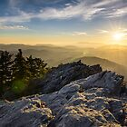 Grandfather Mountain Sunset Blue Ridge Parkway Western NC by Dave Allen