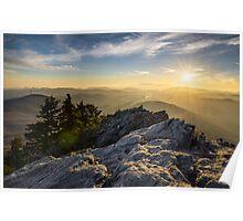 Grandfather Mountain Sunset Blue Ridge Parkway Western NC Poster