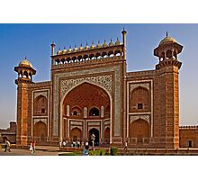The Great gate of the Taj Mahal complex Photographic Print