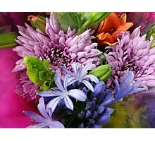 Soft mixed flowers Photographic Print