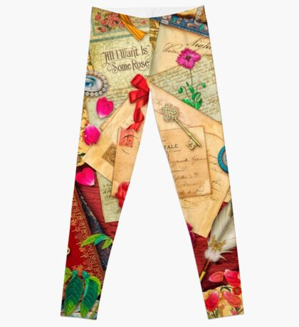 Vintage Love Letters Leggings