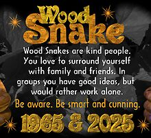 Chinese Zodiac, wood snake, 1965, 2025, born,  by Valxart