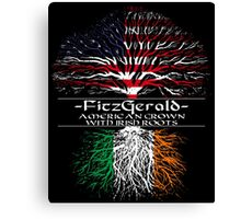Fitzgerald - American Grown with Irish Roots Canvas Print