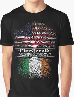 Fitzgerald - American Grown with Irish Roots Graphic T-Shirt
