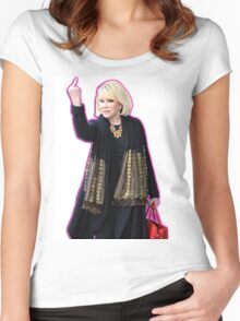 Joan Rivers Flipping Off The Paparazzi Women's Fitted Scoop T-Shirt
