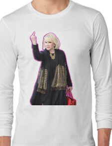 Joan Rivers Flipping Off The Paparazzi Long Sleeve T-Shirt
