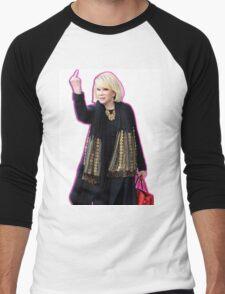 Joan Rivers Flipping Off The Paparazzi Men's Baseball ¾ T-Shirt