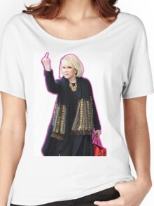 Joan Rivers Flipping Off The Paparazzi Women's Relaxed Fit T-Shirt