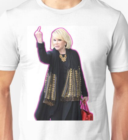 Joan Rivers Flipping Off The Paparazzi Unisex T-Shirt