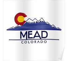 Mead Colorado wood mountains Poster