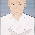 Chef Gordon Ramsay Portrait by nealcampbell