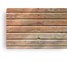Old barn wall texture Canvas Print