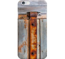 Old barn door texture iPhone Case/Skin