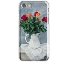 rose flowers in old-fashioned flower pot iPhone Case/Skin