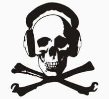 Skull & Headphones by Socialfabrik